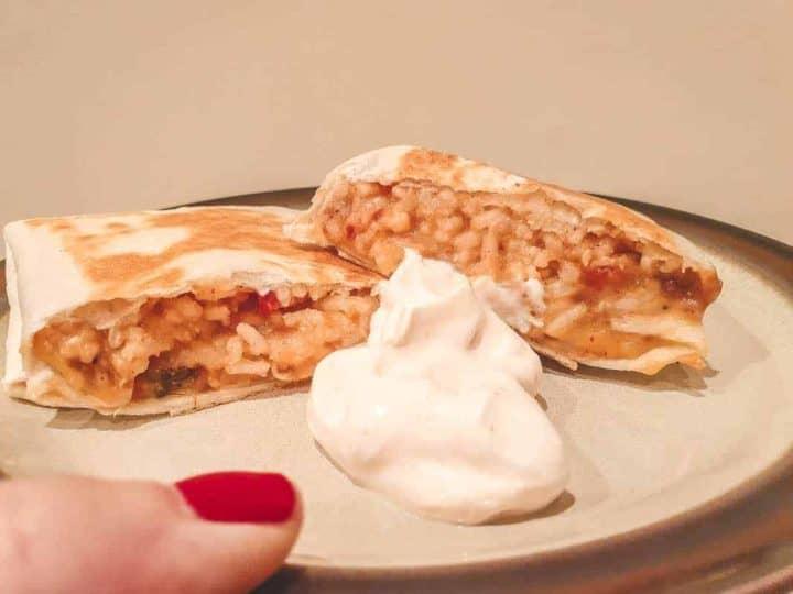 Creamy Cheesy Bean And Rice Burrito Recipe