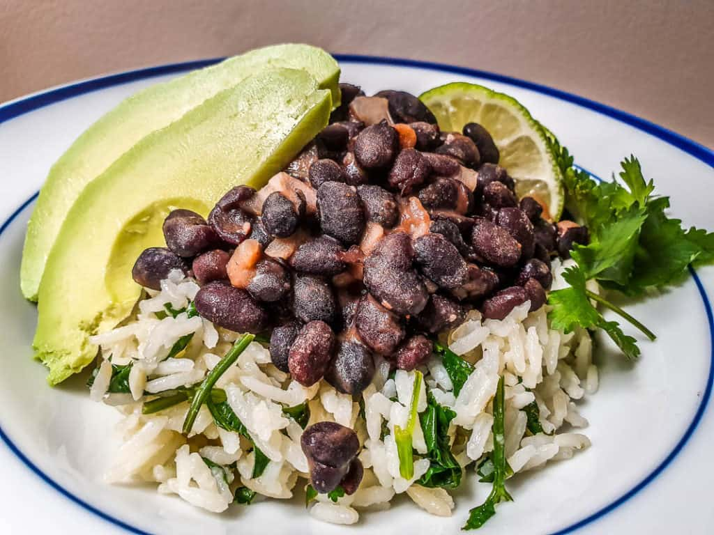 chipotle black beans and avocado