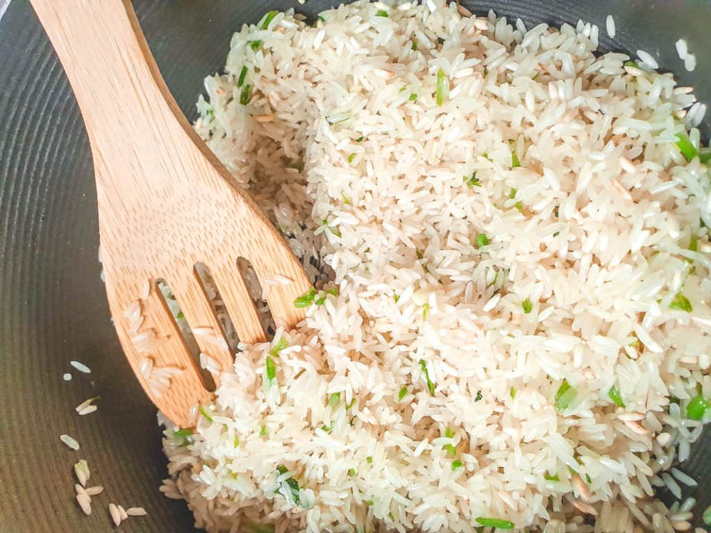 Making Cilantro Lime Rice