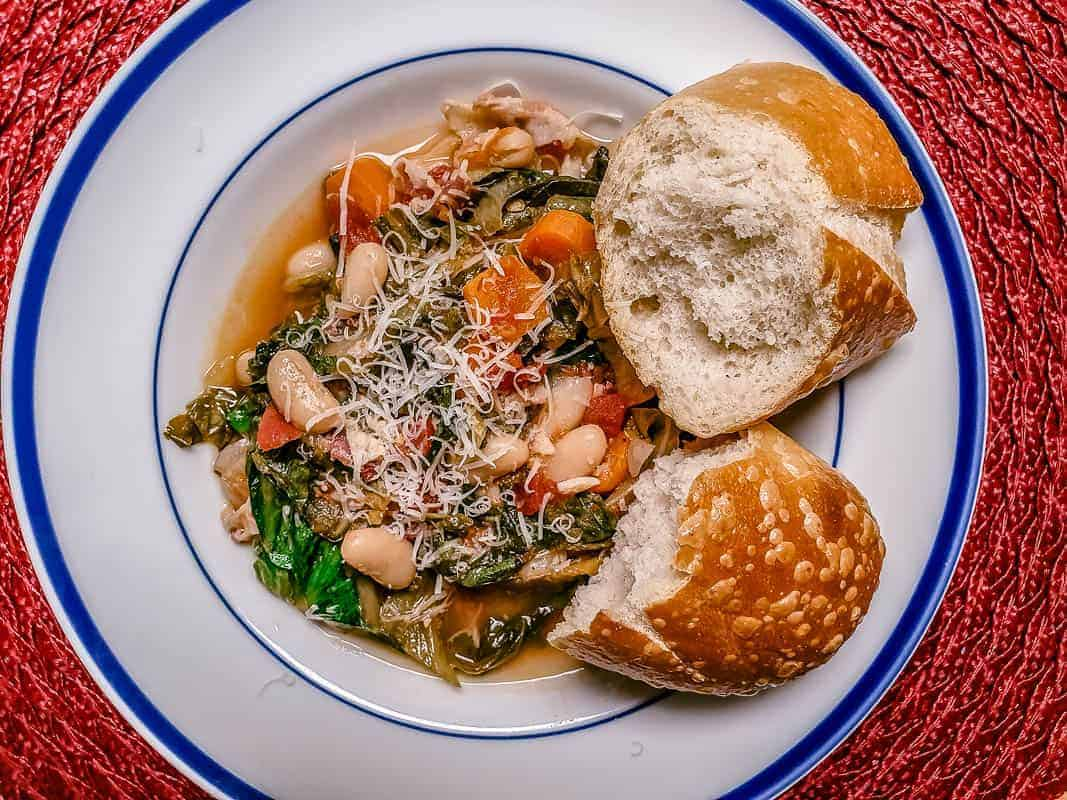 Recipe For Escarole And Beans With Pancetta