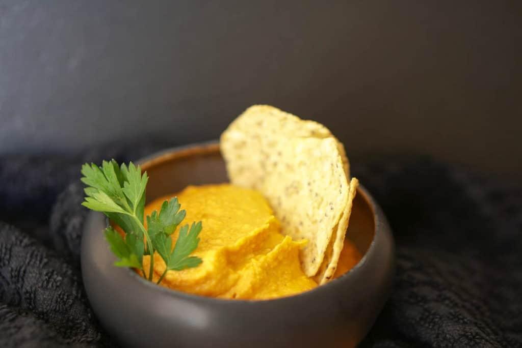 Pumpkin hummus with tahini