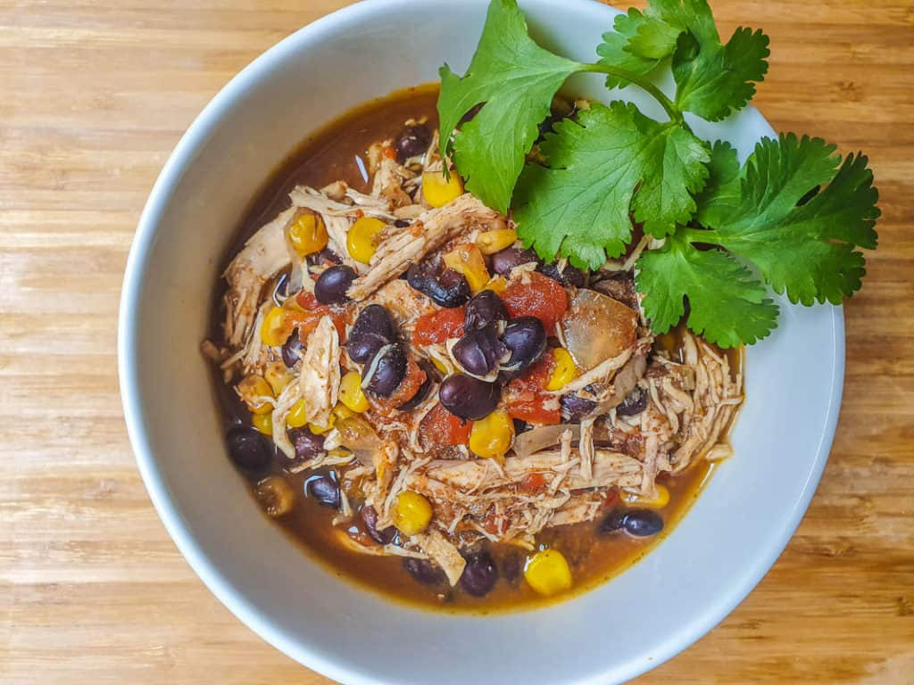 Slow Cooker Southwest Chicken Chili With Black Beans And Corn