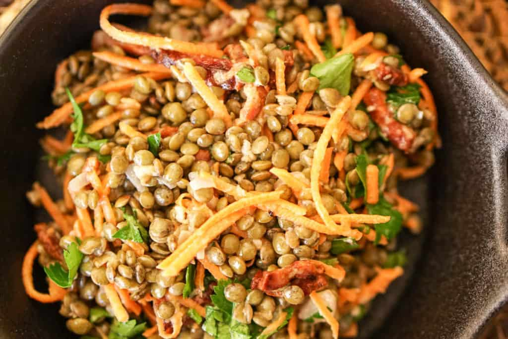 recipe for French green lentils