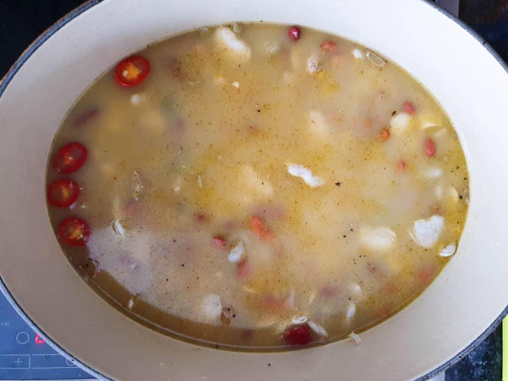 stovetop 15 bean soup