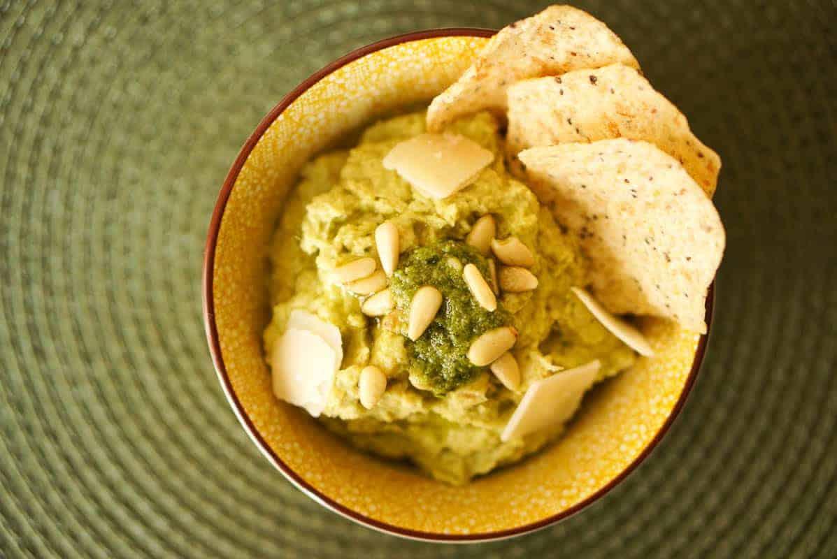 Basil Pesto Hummus Recipe