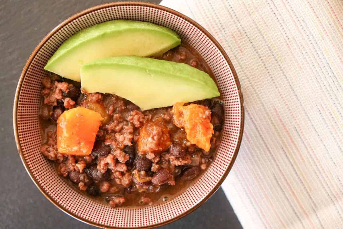 Beef, Black Bean And Pumpkin Chili