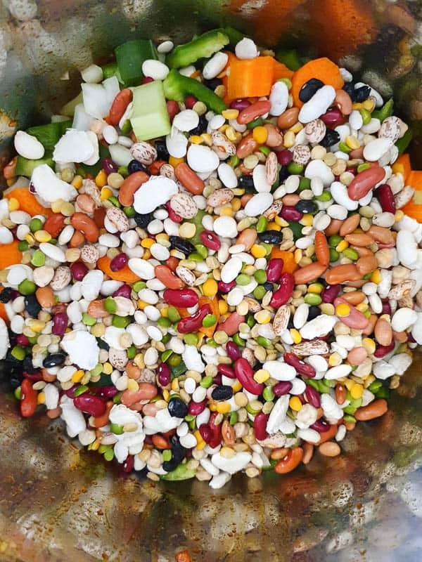 15 bean soup in an Instant Pot