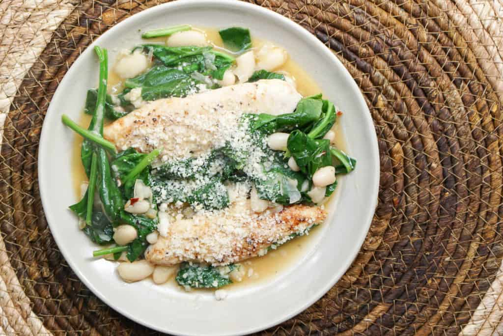 canellini beans and spinach