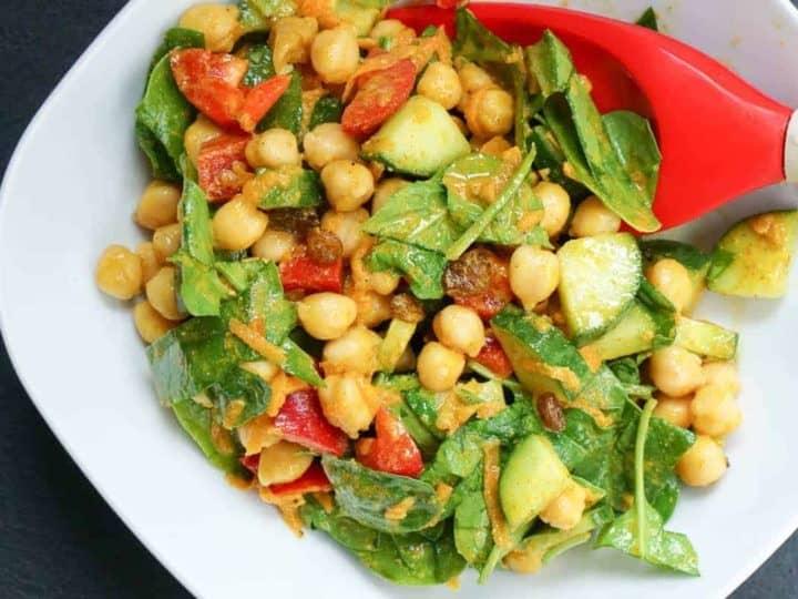 Creamy Curry Chickpea Salad Recipe