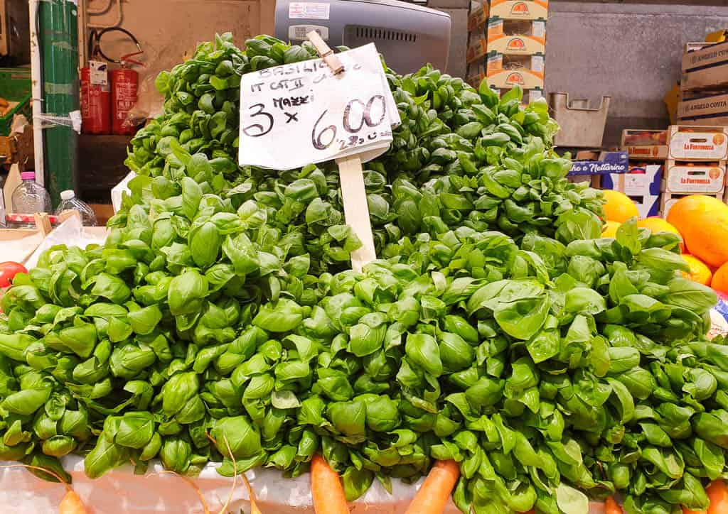 Basil from the market in Geona