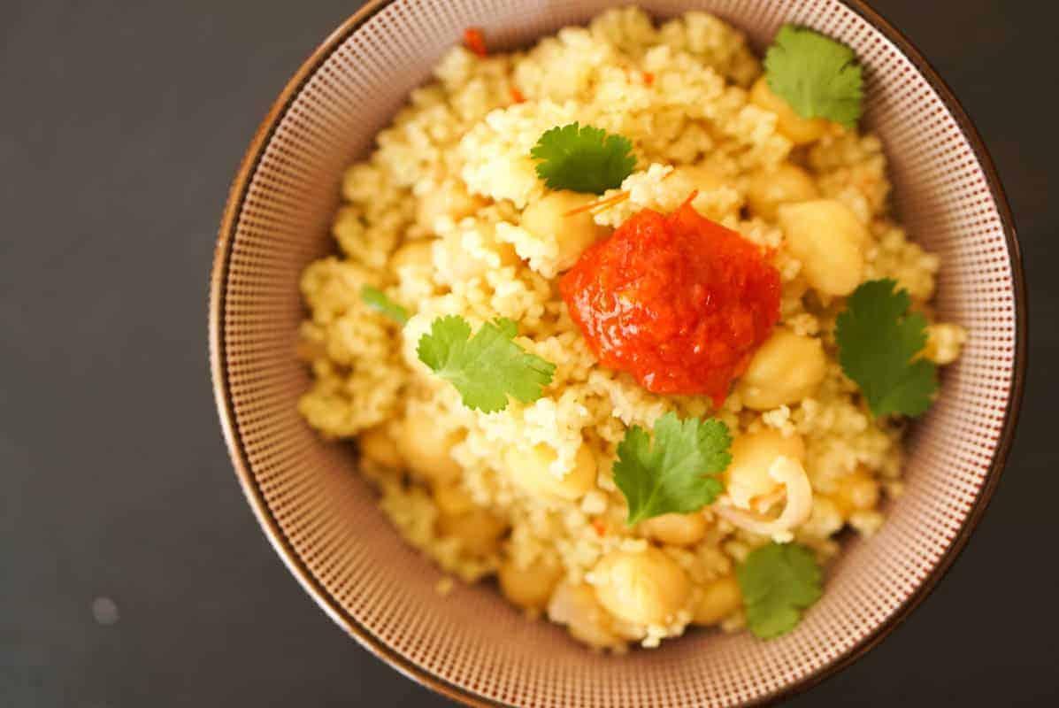 Harissa Couscous And Chickpeas Recipe