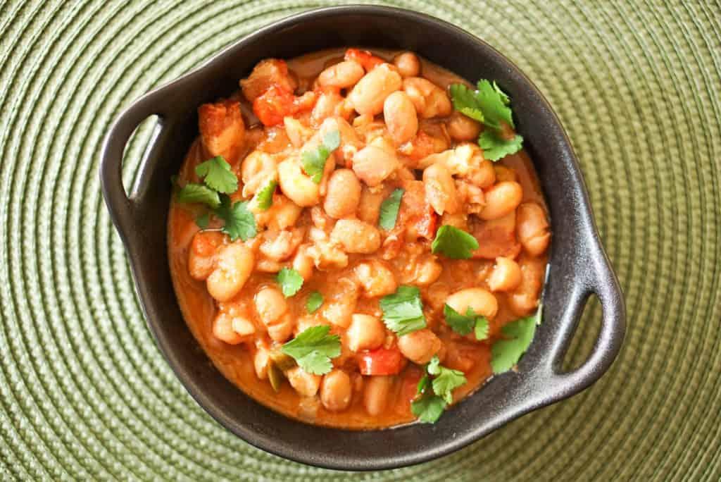 How to serve borracho beans