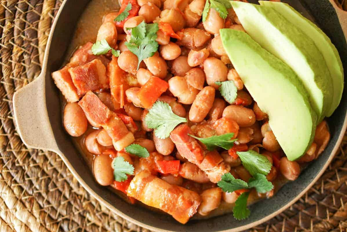 Instant Pot Borracho Beans Recipe - Drunken Beans