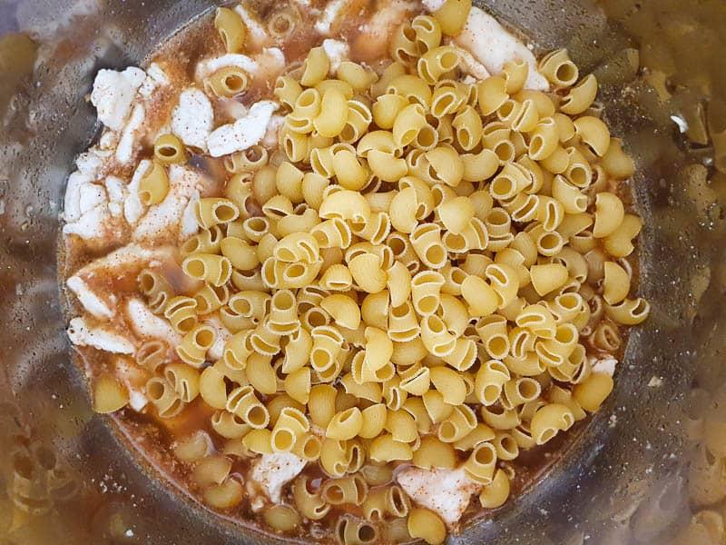 Pressure cooker chicken pasta recipe