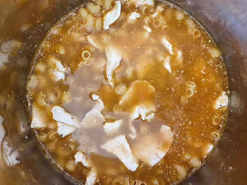 Pressure cooker pasta and chicken