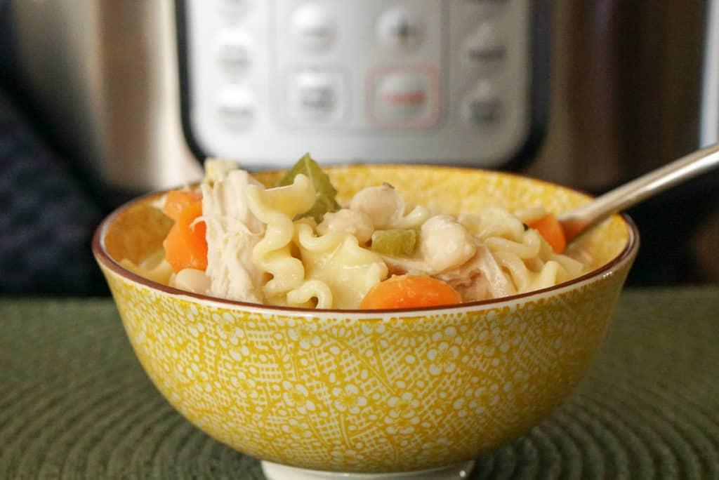 Instant pot chicken noodle soup simple