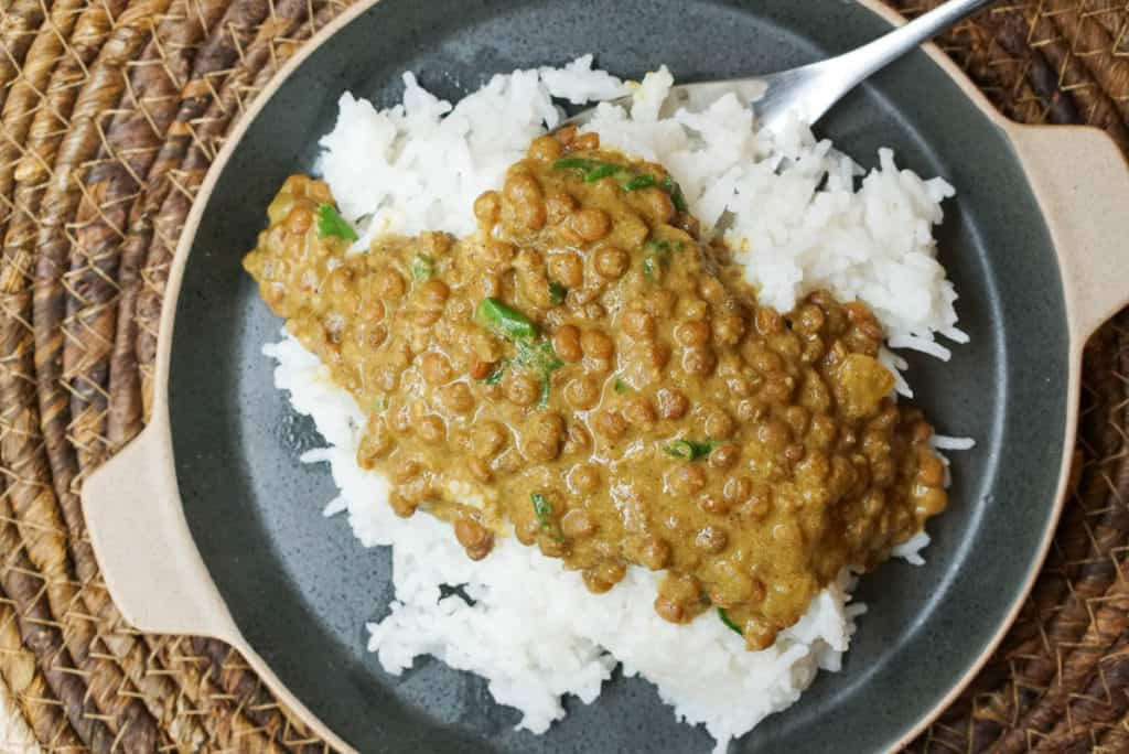 Instant Pot Lentil Curry With Coconut Milk
