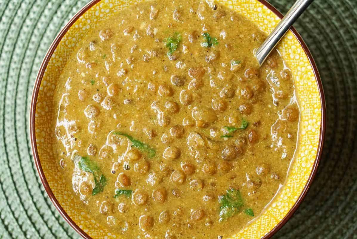 Instant Pot Lentil Curry With Creamy Coconut