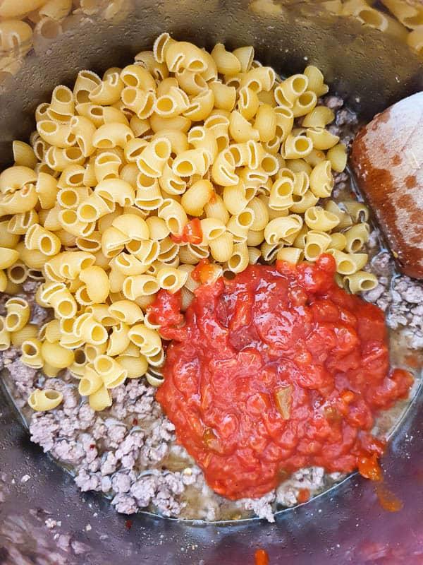 Beef taco pasta