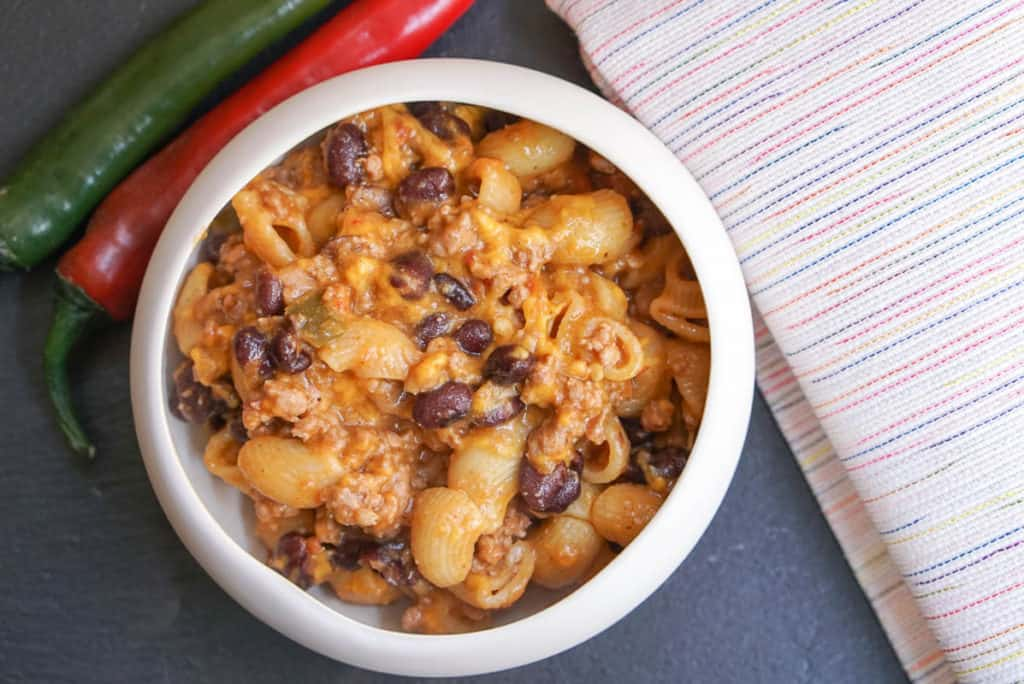Pressure cooker taco pasta