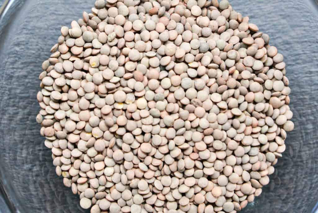 cooking with brown lentils