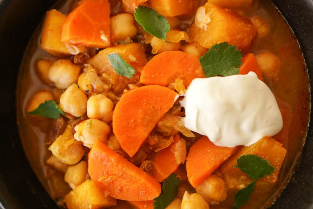 Moroccan pumpkin stew