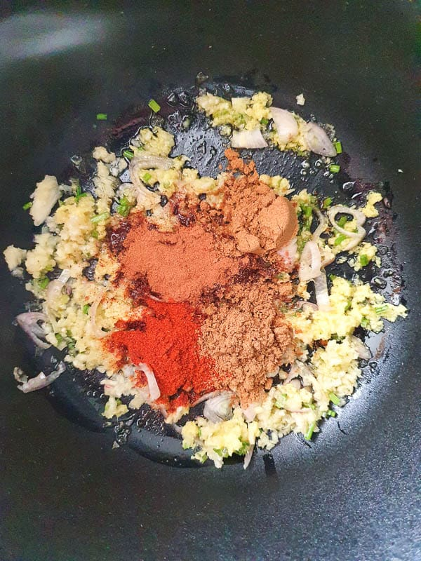 spices for a vegan moroccan chickpea stew