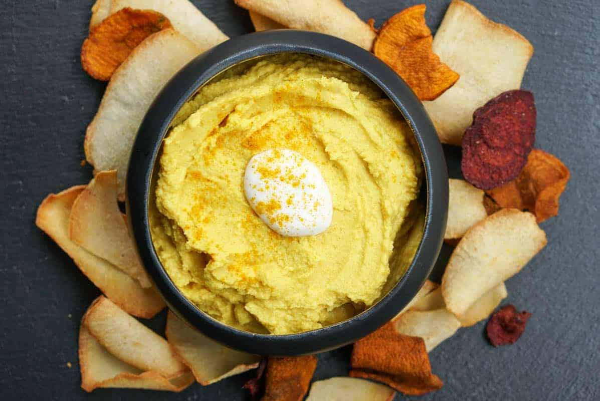 Golden Turmeric Hummus Recipe With Creamy Coconut