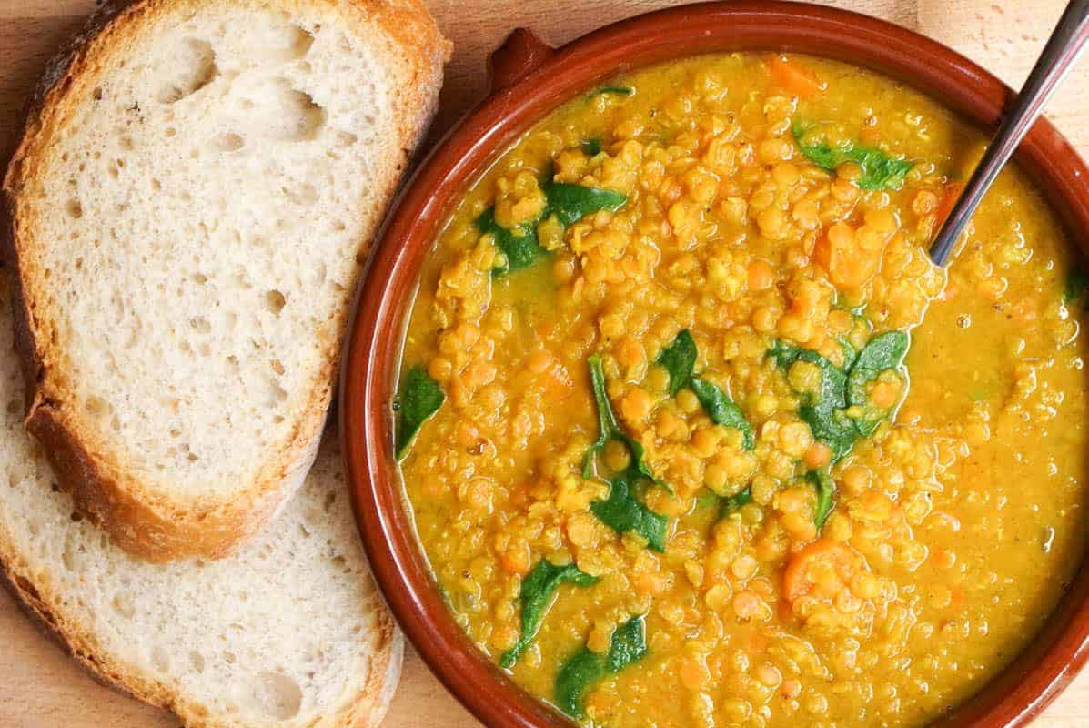 Golden Turmeric Lentil Soup