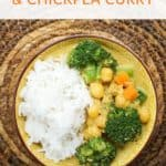 Creamy Broccoli and Chickpea Curry