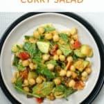 Creamy Curry Chickpea Salad