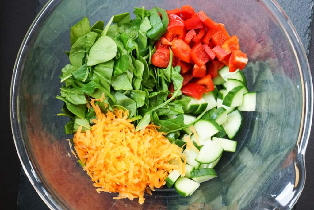 Ingredients for chickpea curry salad recipe