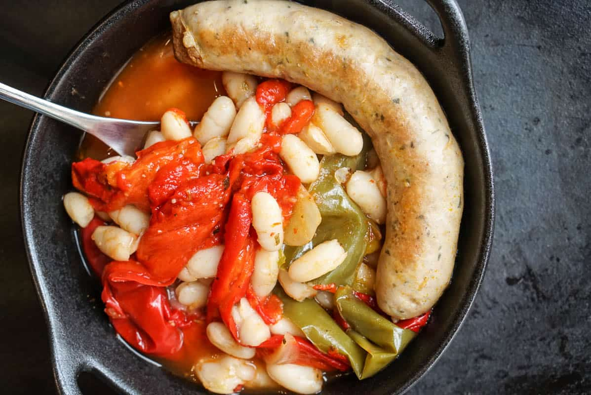 Instant Pot Sausage, Peppers, And White Beans