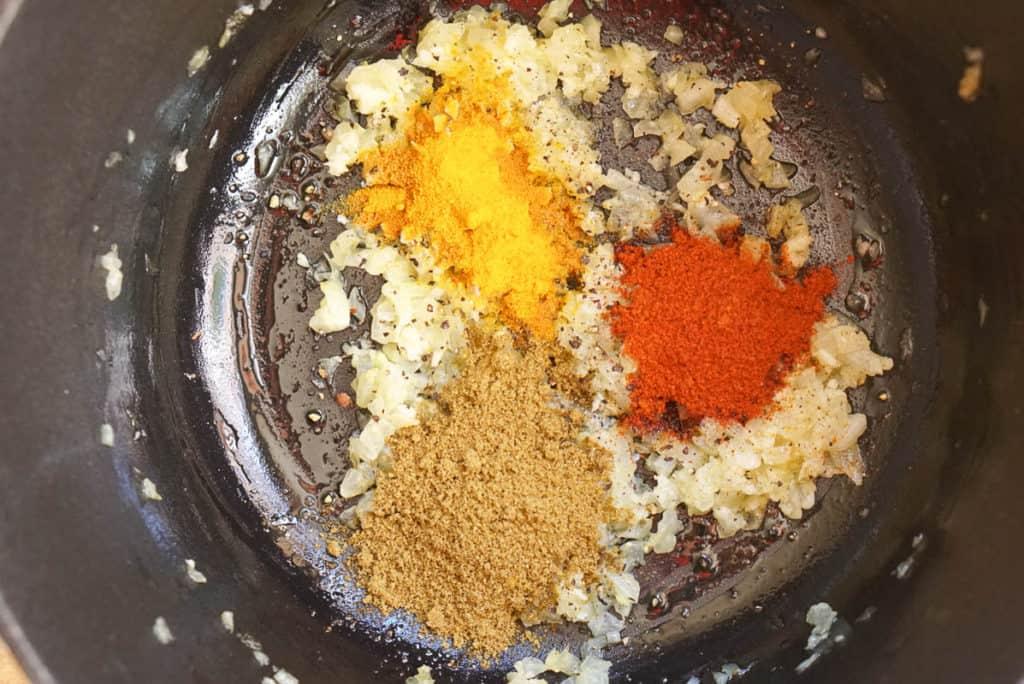 spices for Lebanese soup lentil