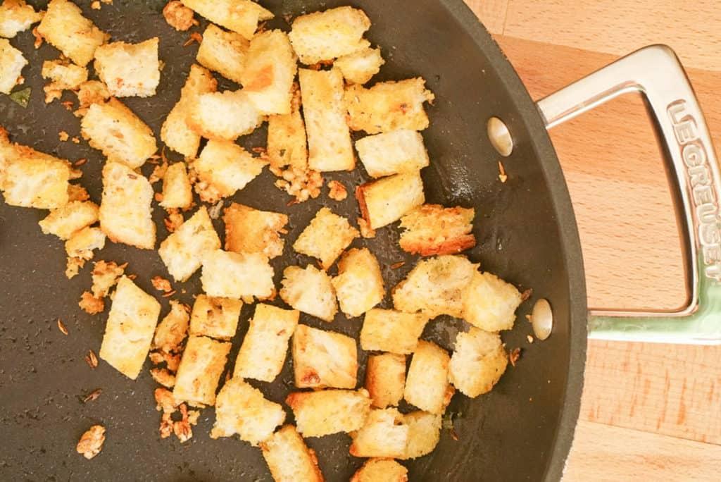 frying stale bread