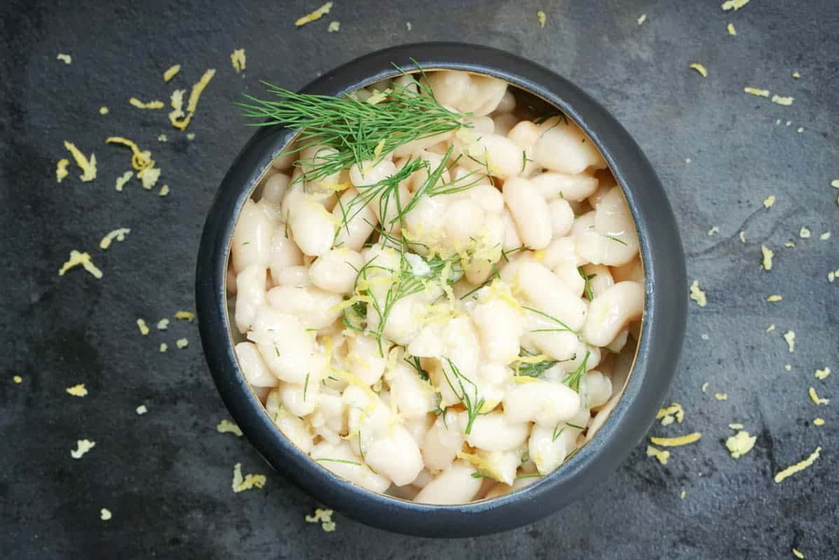 Creamy White Beans, Lemon, And Dill