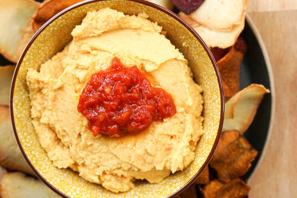 Moroccan-Style Carrot Hummus Recipe