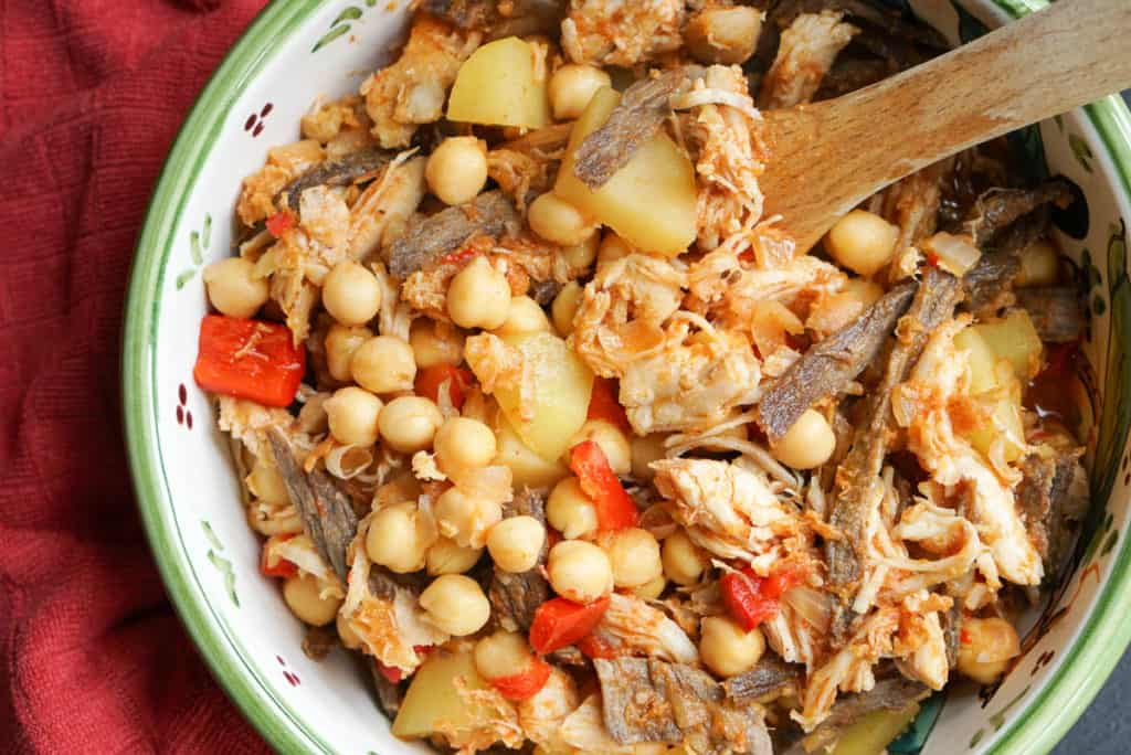 Authentic Spanish Ropa Vieja With Garbanzos