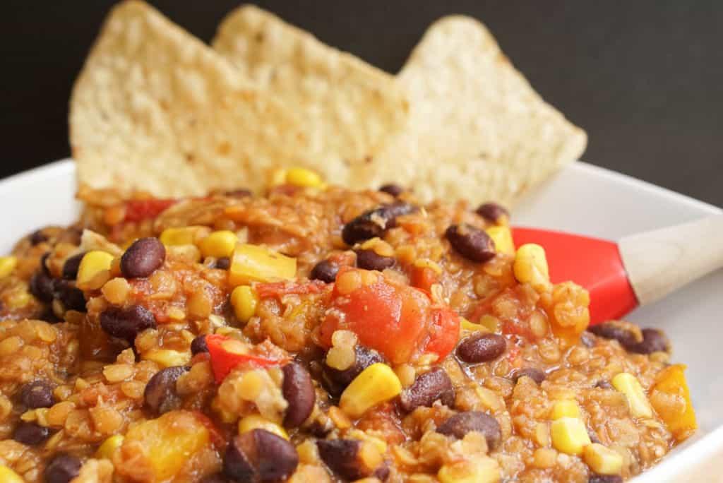 lentils black beans and corn