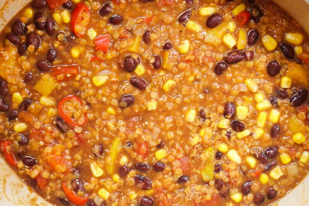 lentil and black bean soup
