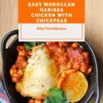 Easy Moroccan Harissa Chicken With Chickpeas