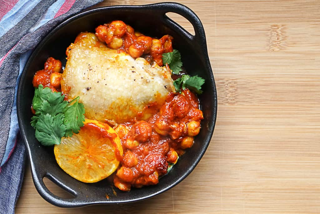 Harissa Chicken With Chickpeas