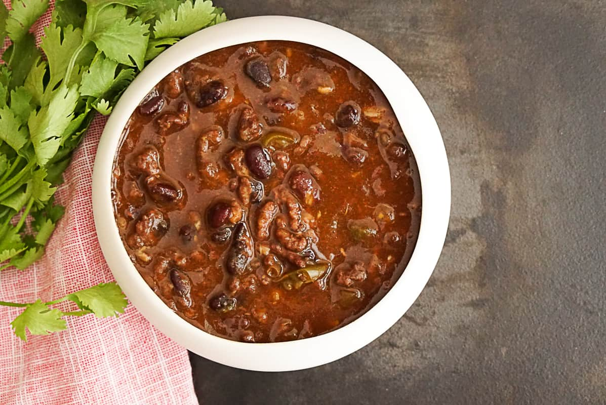 Instant Pot Black Bean Chili With Dry Beans