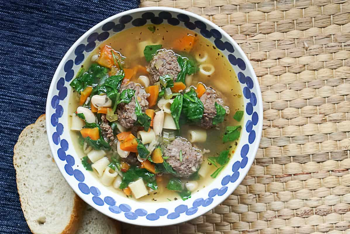 Instant Pot Italian Wedding Soup With Cannellini Beans