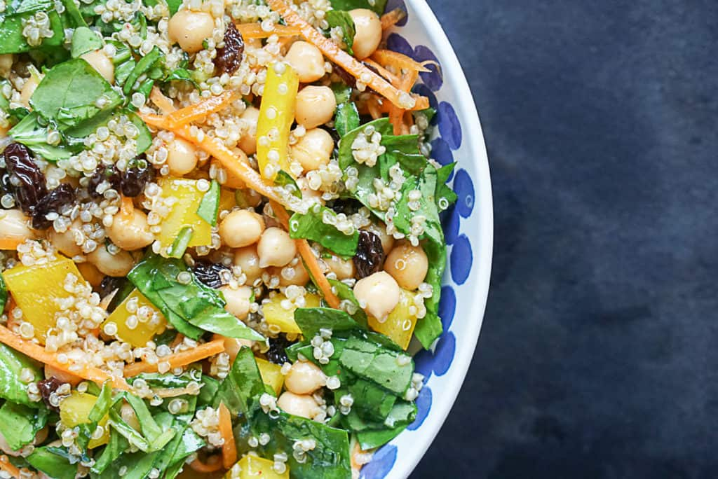 Easy Quinoa And Chickpea Salad
