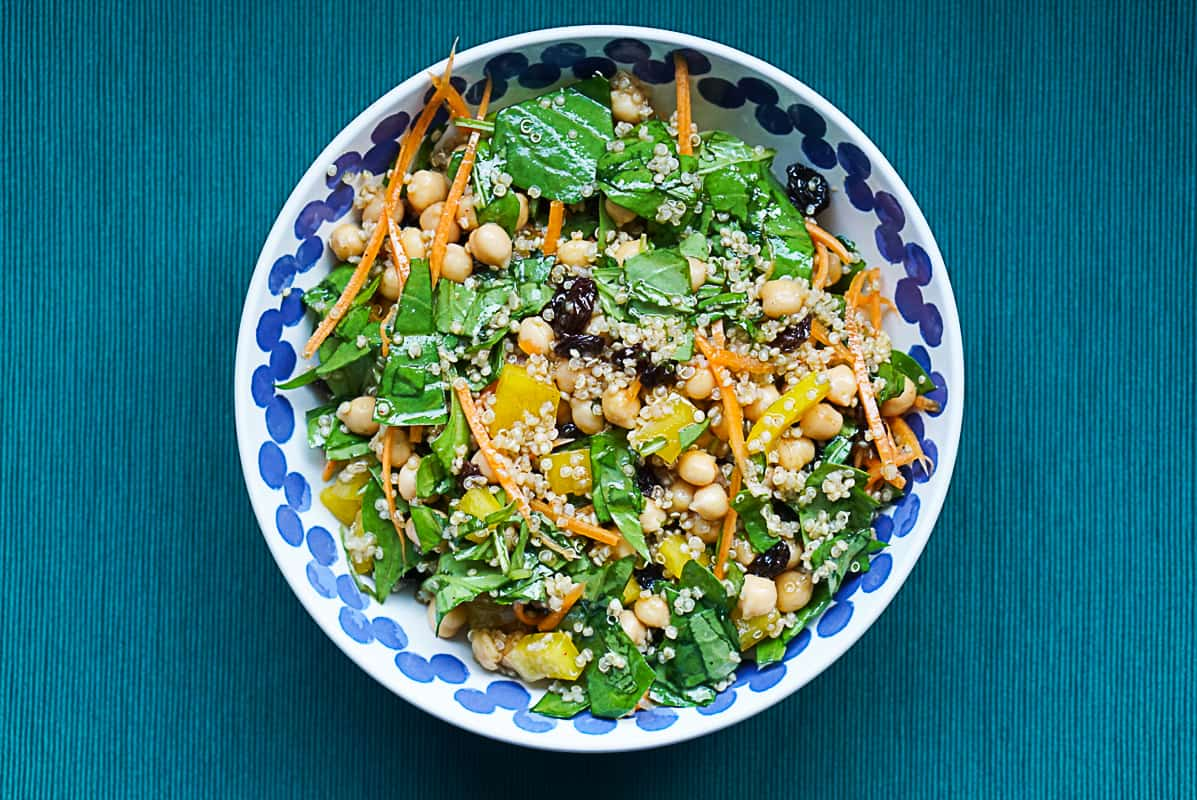 Moroccan Inspired Easy Quinoa And Chickpea Salad