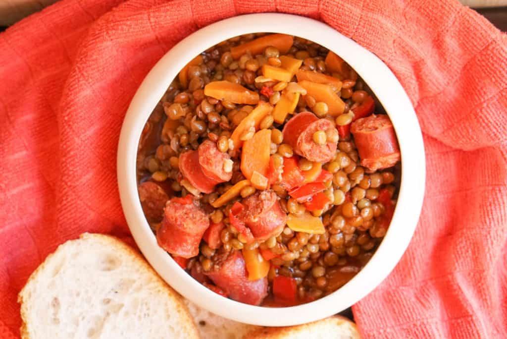 Lentil chorizo stew