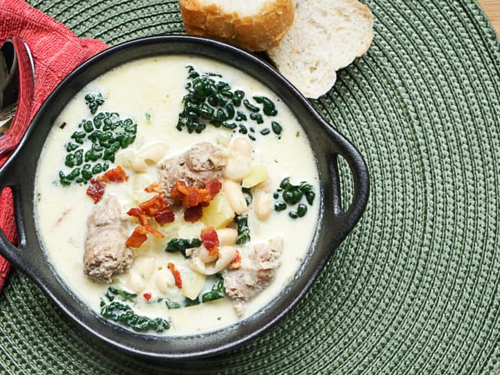 Instant Pot Zuppa Toscana Soup With Cannellini Beans