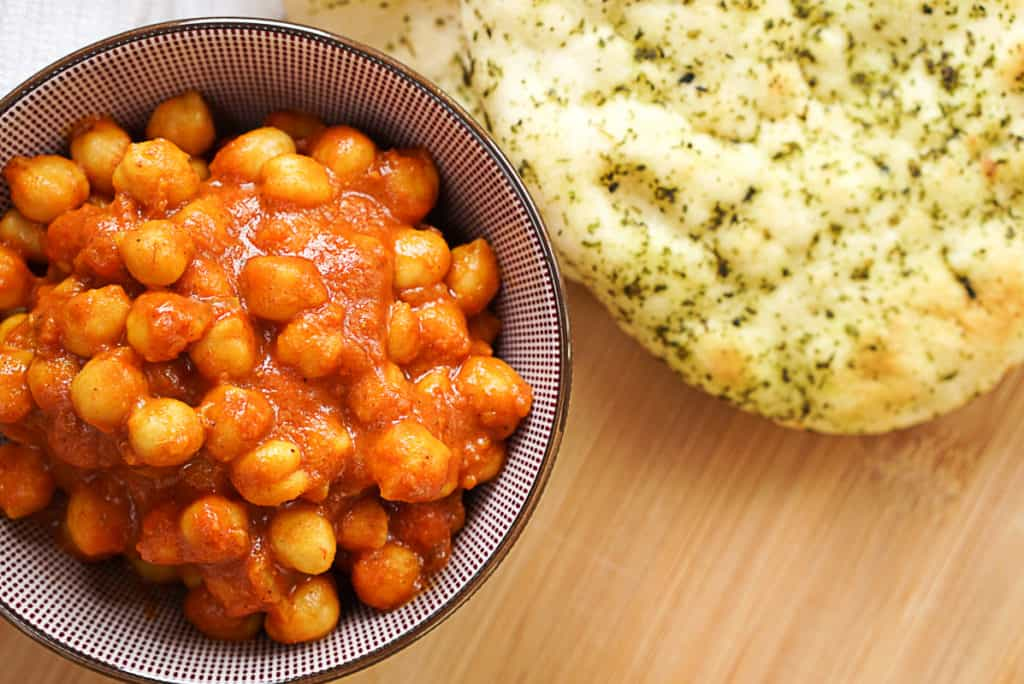 Vegan Chana Masala With Coconut Milk