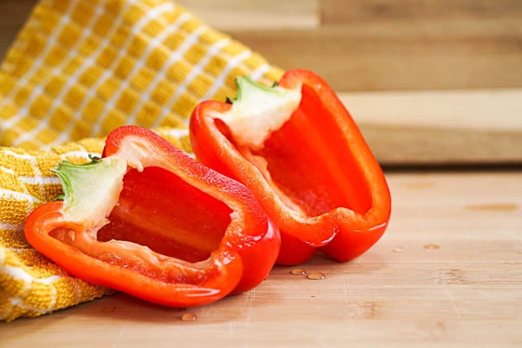 red stuffed peppers